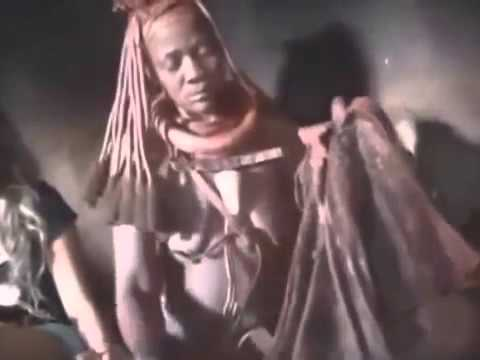 African tribesman with erections