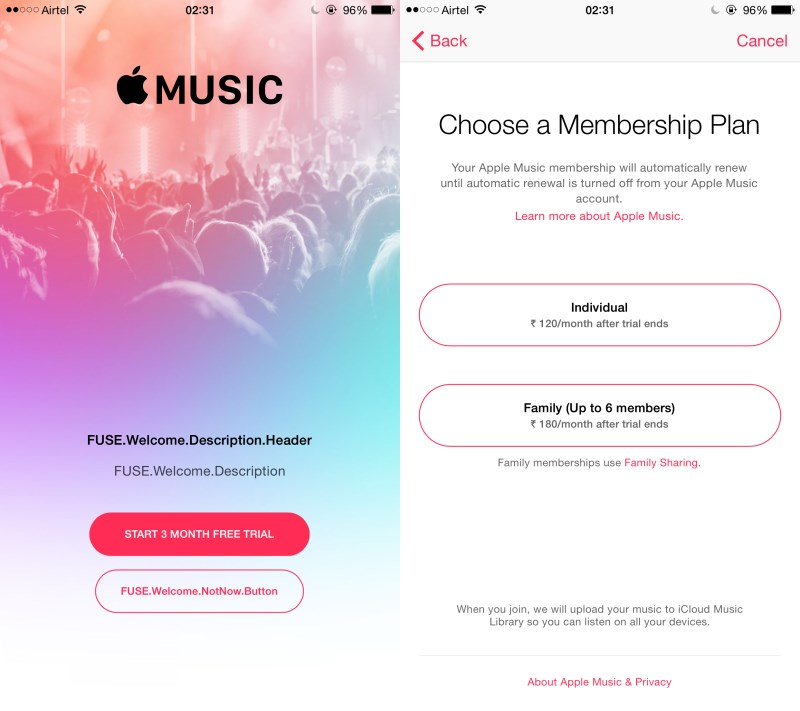 Apple music monthly cost