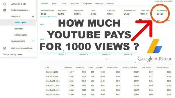 How much do you get paid to youtube