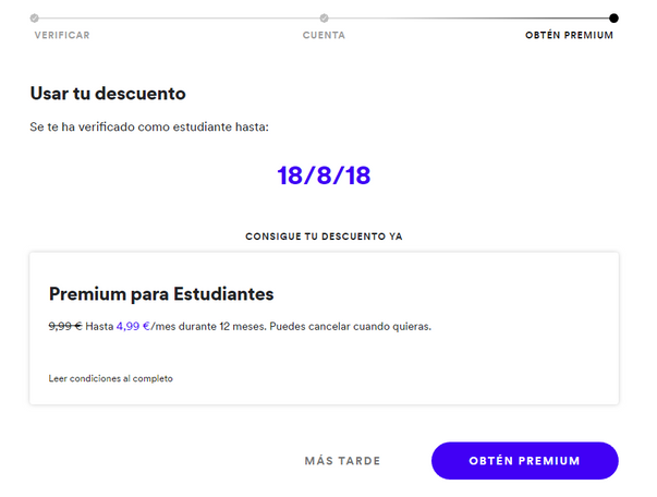 How to renew my spotify student discount